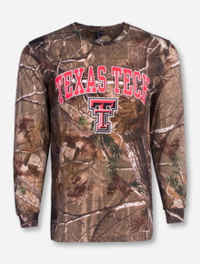 Texas Tech with Double T on Camo Long Sleeve