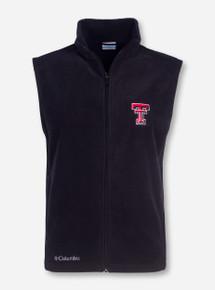 "Texas Tech Columbia ""Flanker"" with Double T on Black Fleece Vest"