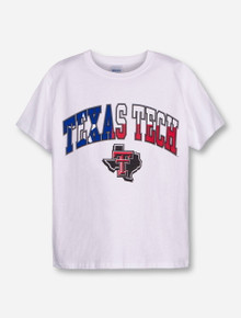 Texas Tech Arch over Lone Star Pride on White  YOUTH T-Shirt