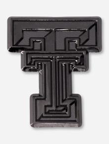 Texas Tech Double T Black & Chrome Car Emblem