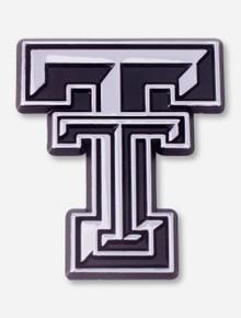 Texas Tech Double T Silver Car Emblem