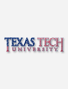 American Flag Texas Tech University Decal
