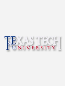 Texas Tech University Red, White, & Blue Decal