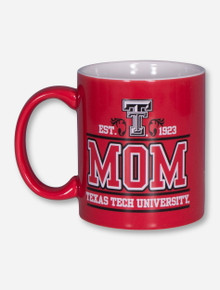 Texas Tech Mom & Double T on Red Coffee Mug