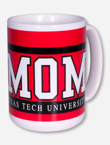 Texas Tech Mom Block on Red Coffee Mug