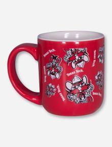 Texas Tech Raider Red Patterned Red Coffee Mug
