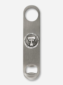 Heritage Pewter Texas Tech Double T Emblem on Pewter Bottle Opener