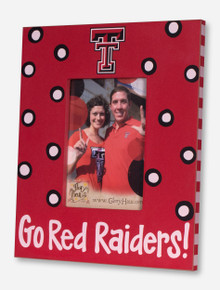 Go Red Raiders Polka Dot Red & Black Frame - Texas Tech