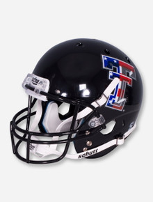 Schutt Limited Edition Flag Double T on Black Replica Helmet - Texas Tech