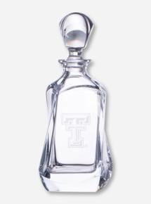 Texas Tech Krystof Etched Swivel Crystal Liquor Decanter