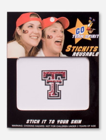 Texas Tech Glitter Double T Face Tattoo