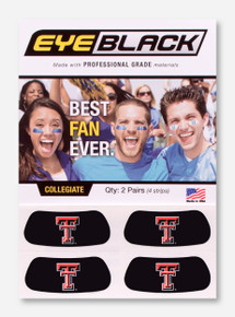Two Pairs of Double T Eye Black Strips - Texas Tech