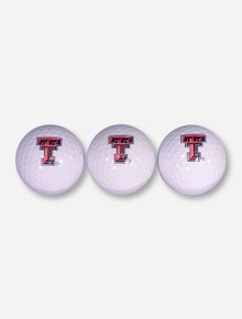 Three Pack of Texas Tech Double T Golf Balls