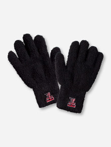 Texas Tech Double T on Fuzzy Gloves