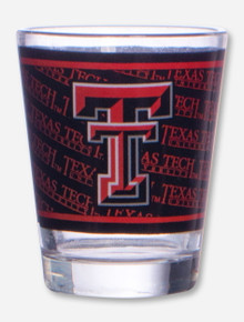 Texas Tech & Double T Wrapped Black & Red Shot Glass