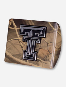 Texas Tech Chrome Double T on Camo Hitch Cover