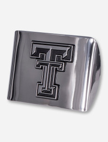 Texas Tech Chrome Plated Double T Hitch Cover