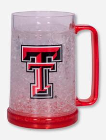 Texas Tech Double T on Red Color Block Freezer Mug