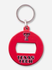 Texas Tech Bottle Opener Red Keychain
