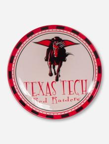 Masked Rider & Texas Tech on White Serving Platter