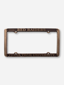Red Raiders Texas Tech University on Bronze License Plate Frame