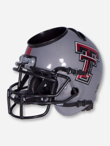 Texas Tech Grey Football Helmet Desk Caddy