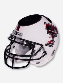 Texas Tech White Football Helmet Desk Caddy