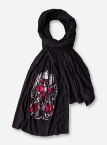 Metallic Raider Red on Black Scarf - Texas Tech