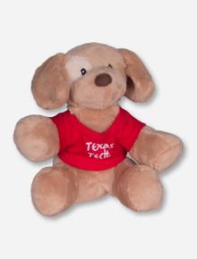 Texas Tech Plush Golden Puppy in Texas Tech T-Shirt