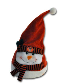 Animated Musical Snowman in Santa Hat Christmas Decor
