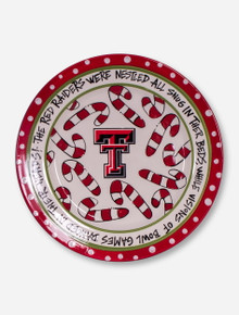 Texas Tech Double T & Candy Cane Serving Dish