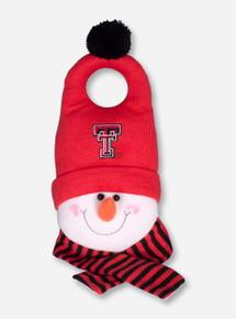 Texas Tech Snowman with Double T Hat Door Handle Decoration