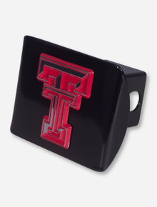 Texas Tech Red Trim Double T on Black Hitch Cover