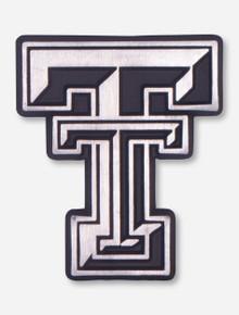 Texas Tech Matte Chrome Double T Car Emblem