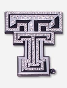 Texas Tech Crystal Chrome Double T Car Emblem