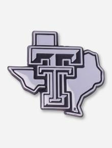 Texas Tech Chrome Lone Star Pride Car Emblem
