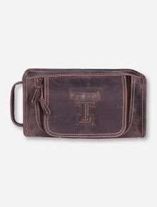 Taylor Falls Texas Tech Brown Travel Kit
