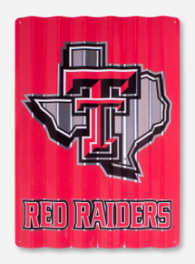 Texas Tech Lone Star Pride on Red Metal Sign
