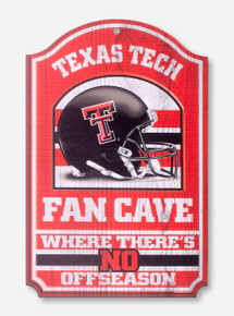 Texas Tech Fan Cave Helmet Wall Hanging