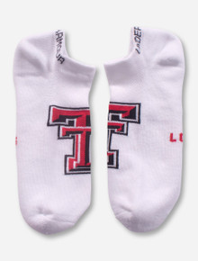 Under Armour Texas Tech Double T on White Performance Socks - Size Large