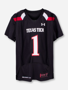 Under Armour Texas Tech Replica #1 Black YOUTH Jersey