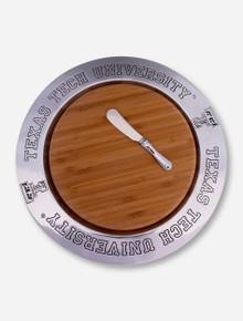 Wilton Armetale Texas Tech Wood Cheeseboard and Metal Plate