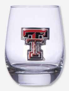 Texas Tech Double T Stemless Wine Glass