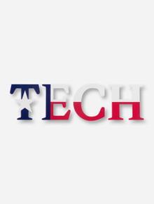 TECH with Texas Flag Print Decal