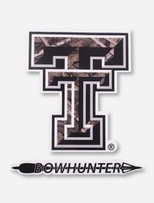 Texas Tech Camo Double T Bowhunter Decal
