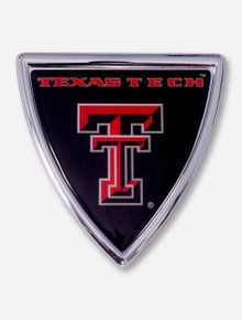 Texas Tech Double T on Black Badge Emblem