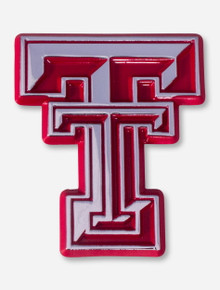 Texas Tech Chrome and Red Double T Emblem