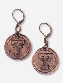 Texas Tech Double T Antique Bronze Earrings