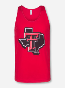 Texas Tech Lone Star Pride on Red Tank Top