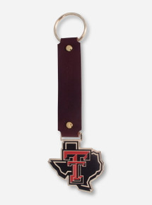 Texas Tech Lone Star Pride Leather Key Chain